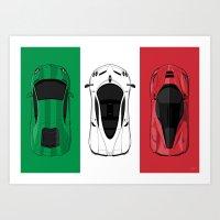 Tricolore Art Print