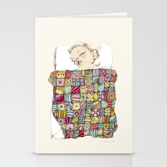 sleeping child Stationery Card