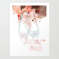 shoes Art Prints featuring shoes by Sabine Israel