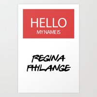 HELLO MY NAME IS... REGI… Art Print