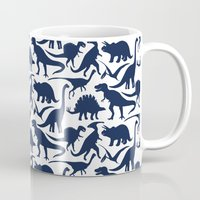 Little Dinosaur Friends - indigo Mug