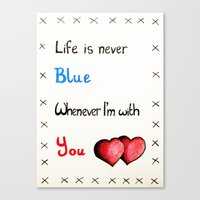 Valentine's: Never Blue Canvas Print