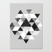 Graphic 202 Black and White Canvas Print