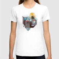 mountains T-shirts featuring Over mountains by Efi Tolia