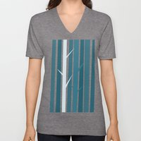 Blue Wood Unisex V-Neck