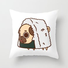 Puglie Onigiri Throw Pillow
