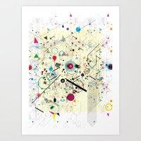 Virtual Chaos 2 Art Print