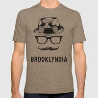 Brooklyndia Mens Fitted Tee Tri-Coffee SMALL