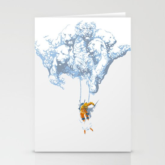 Avalanche Stationery Card