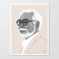 Hayao Miyazaki Canvas Print