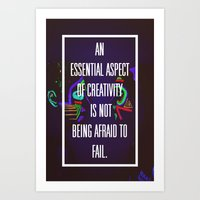 Not Being Afraid to Fail Art Print