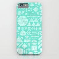 Modern Elements with Turquoise iPhone 6 Slim Case