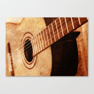 Canvas Print featuring Guitar Art by Falko Follert Art-FF…