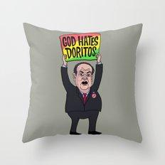 God Hates Doritos Throw Pillow