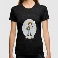 Star Wars Fan-girl Womens Fitted Tee Tri-Black SMALL