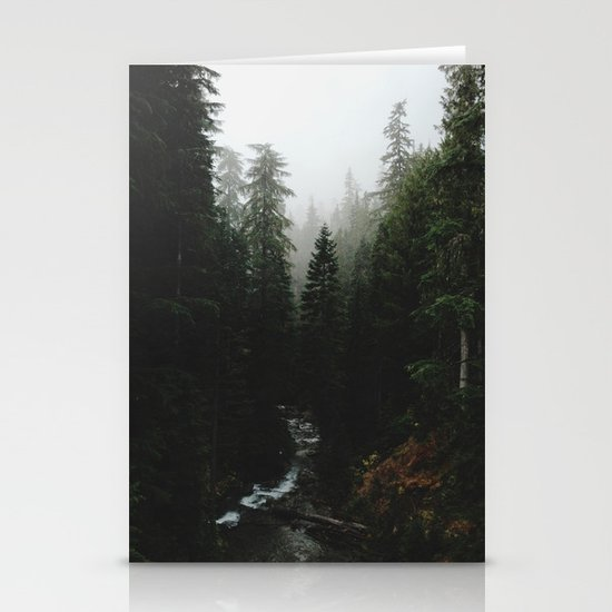 Rainier Creek Stationery Card