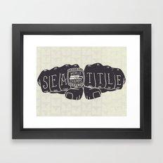 Seattle Seahawks Super Bowl World Champs Framed Art Print