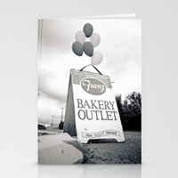 Bakery outlet sign Stationery Cards