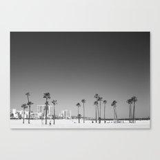 Palm Tree Beach Canvas Print