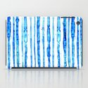 Blue Ink Stains iPad Case