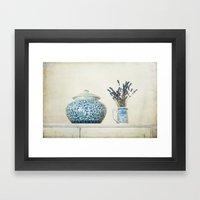 Lavender with Ginger Jar and Jug Framed Art Print