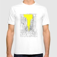 living for the city Mens Fitted Tee White SMALL