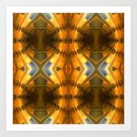 Amber Light Kaleidoscope Art Print
