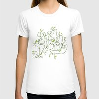 Green is in Bloom Womens Fitted Tee White SMALL