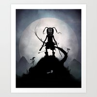 Skyrim Kid Art Print