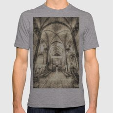 Rochester Cathedral Vintage  Mens Fitted Tee Athletic Grey SMALL