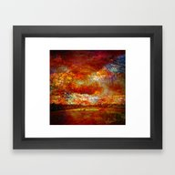 Framed Art Print featuring Work On The Fields Abstr… by Lo Coco Agostino