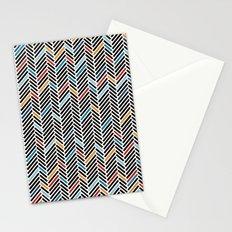 Herringbone Blue and Black #3 Stationery Cards