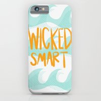 iPhone & iPod Case featuring wicked smart by Katie Pelon