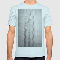 Bunny Girl Glitch Mens Fitted Tee Light Blue SMALL