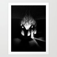 Burn It Down Art Print