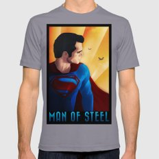 Man of Steel Mens Fitted Tee Slate SMALL