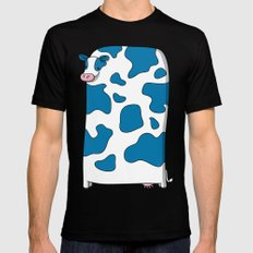 Blue Cow SMALL Black Mens Fitted Tee