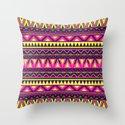 Mandala - Navajo dance Throw Pillow