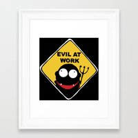 Evil at Work Framed Art Print
