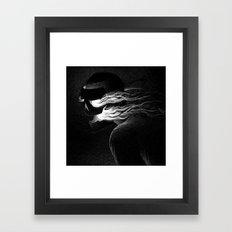 Drawlloween 2015: Mask Framed Art Print