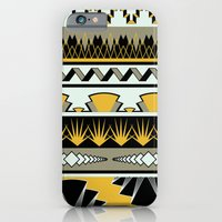 iPhone & iPod Case featuring art deco stripes - honey by ravynka