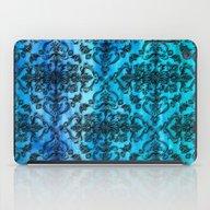 Black Filigree Pattern O… iPad Case