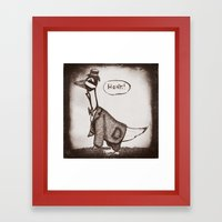 Honk! Framed Art Print
