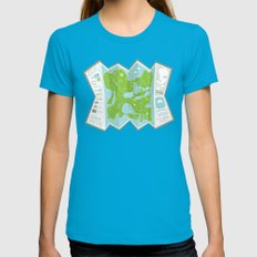 Totally Inaccurate Map of Gifford Pinchot State Park Womens Fitted Tee Teal SMALL