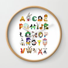 That's Alphabet Folks Wall Clock