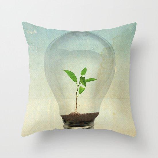 green ideas Throw Pillow