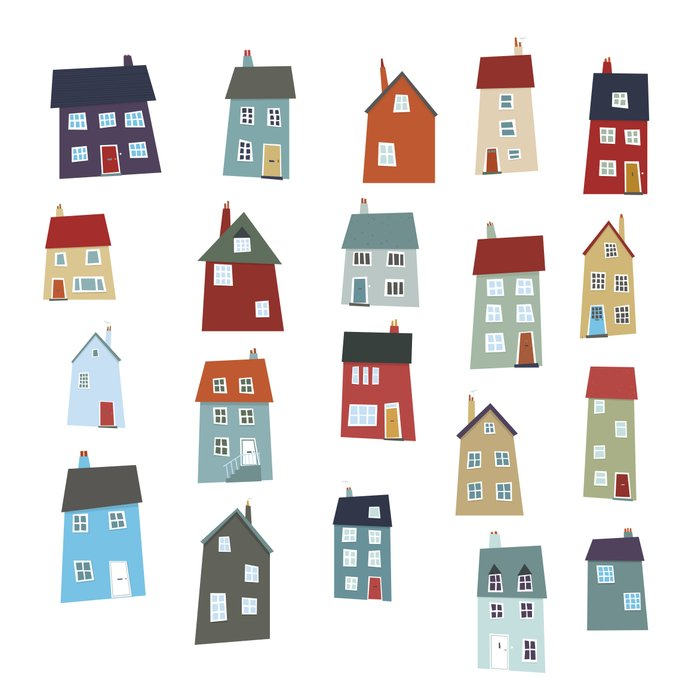 Little Houses Art Print By Nic Squirrell Society6