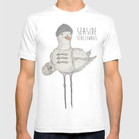 SEASIDE SCALLYWAGS Mens Fitted Tee White SMALL