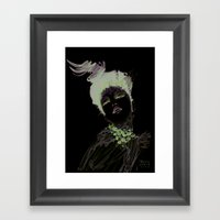 Purple Dramatic Fashion … Framed Art Print