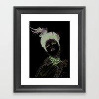 Purple Dramatic Fashion … Framed Art Print